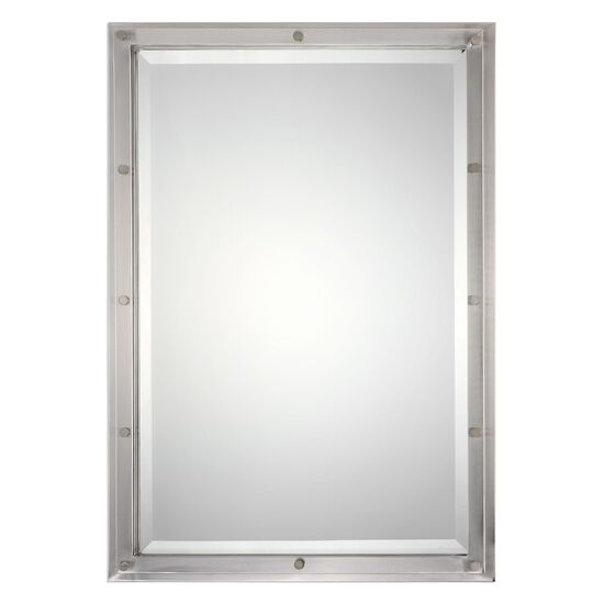 32'' Multi-layered Frame Accent Mirrorin Brushed Nickel