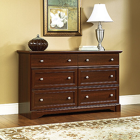 "34"" Paneled Six-Drawer Dresser in Select Cherry"