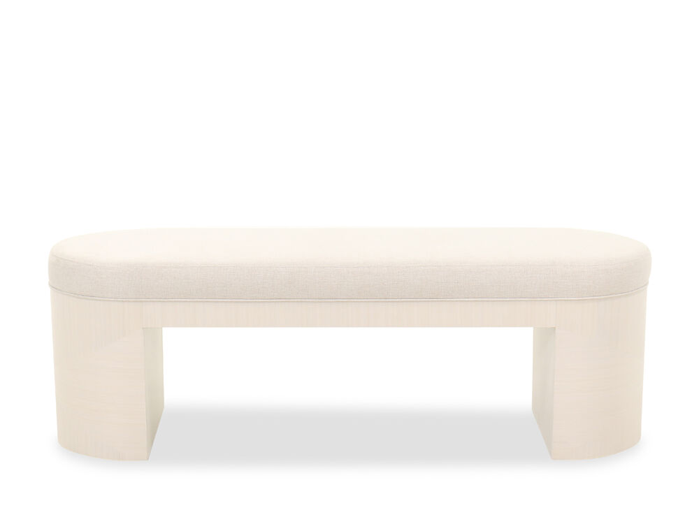 """Transitional 56"""" Bench in Linear White"""