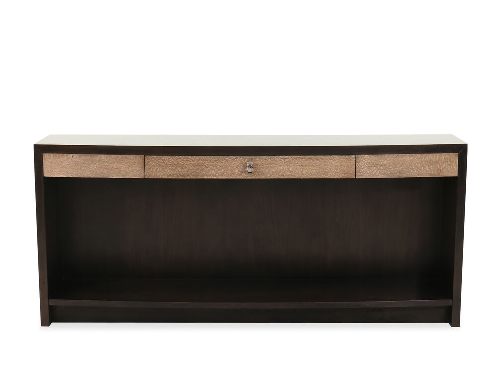 Contemporary One-Drawer Console Table in Brown