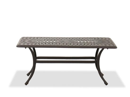 Aluminum Rectangular Coffee Table in Brown