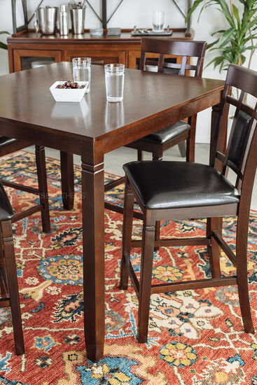 Five-Piece Contemporary Dining Room Set in Brown