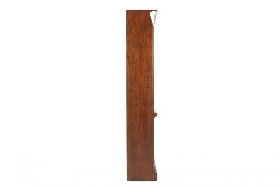 Traditional Adjustable Shelf Open Bookcase in Medium Brown
