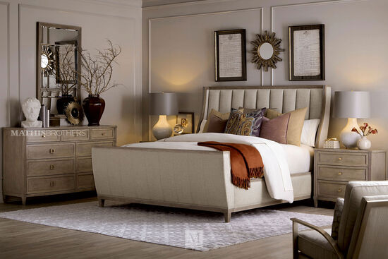A.R.T. Furniture Cityscapes Chelsea Upholstered King Shelter Sleigh Bed