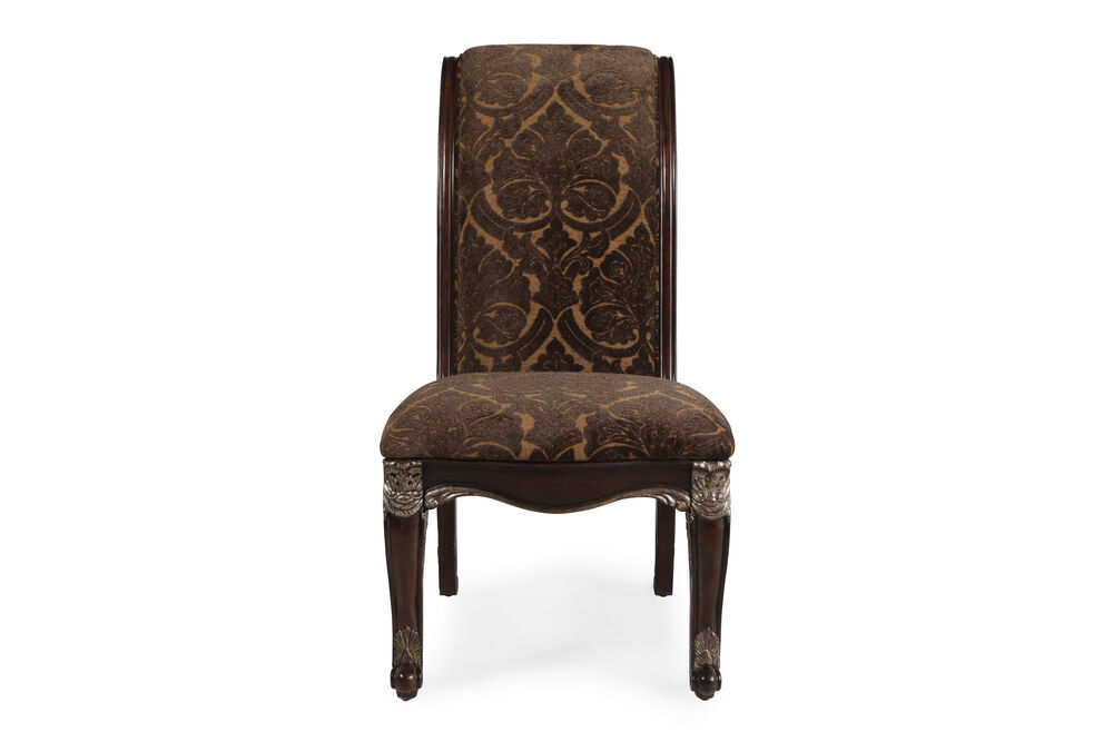 Rolled Back 45'' Side Chair in Russet Brown