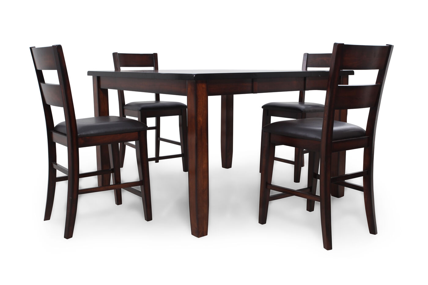 Mathis Brothers Dining Table And Chairs Inspirational Kitchen Sets Five Piece Solid Wood Contemporary 543939 Pub Set