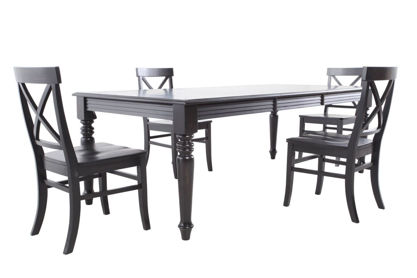 MB Home Rubbed Black Five Piece Dining Set