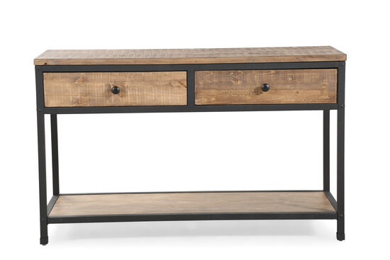 Two-Drawer Country Sofa Table in Weathered Barley
