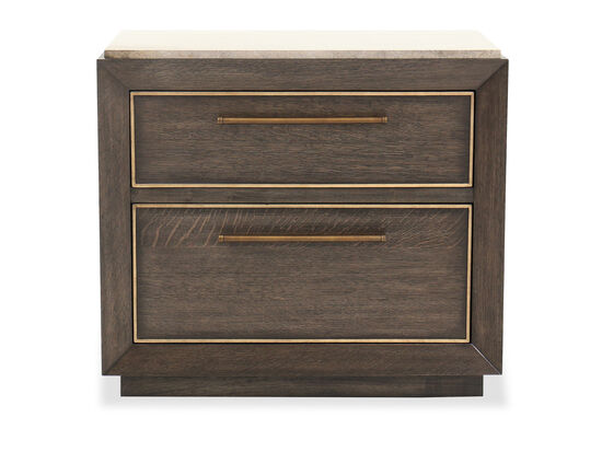 "30"" Traditional Two-Drawer Nightstand in Lloyd Brown"