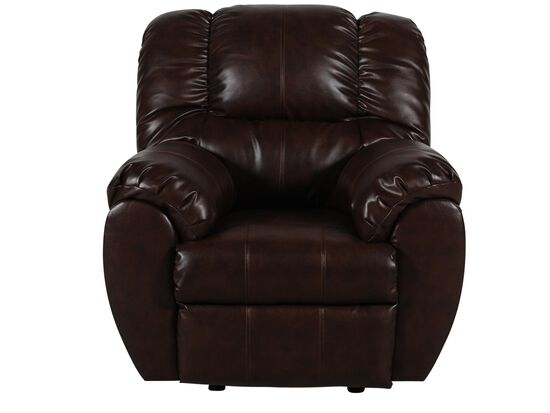 "Contemporary 41"" Rocker Recliner in Espresso"