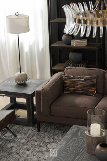 Square End Table in Brown