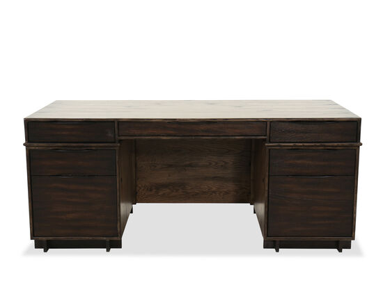 "73"" Casual Executive Desk in Dark Wood"
