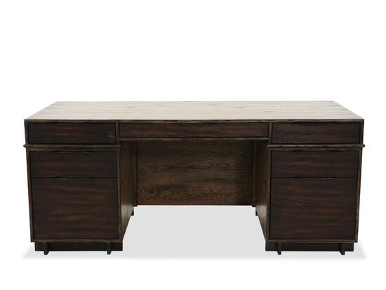 "73"" Casual Executive Desk in Dark Wood"