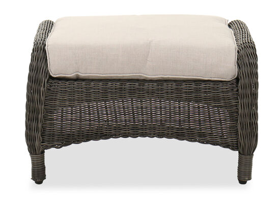Contemporary Patio Ottoman in Dark Gray