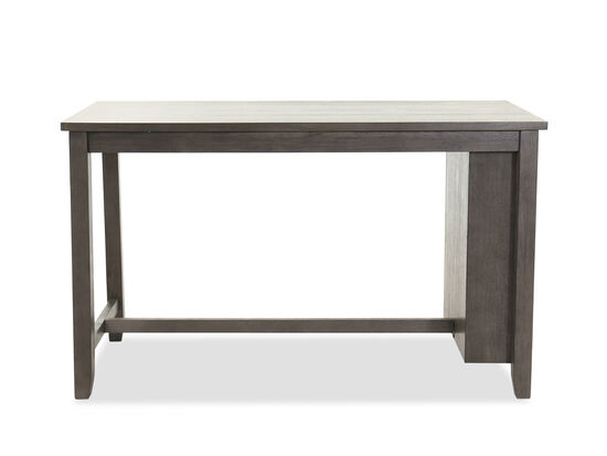 "Casual 60"" Rectangular Counter Table in Dark Gray"