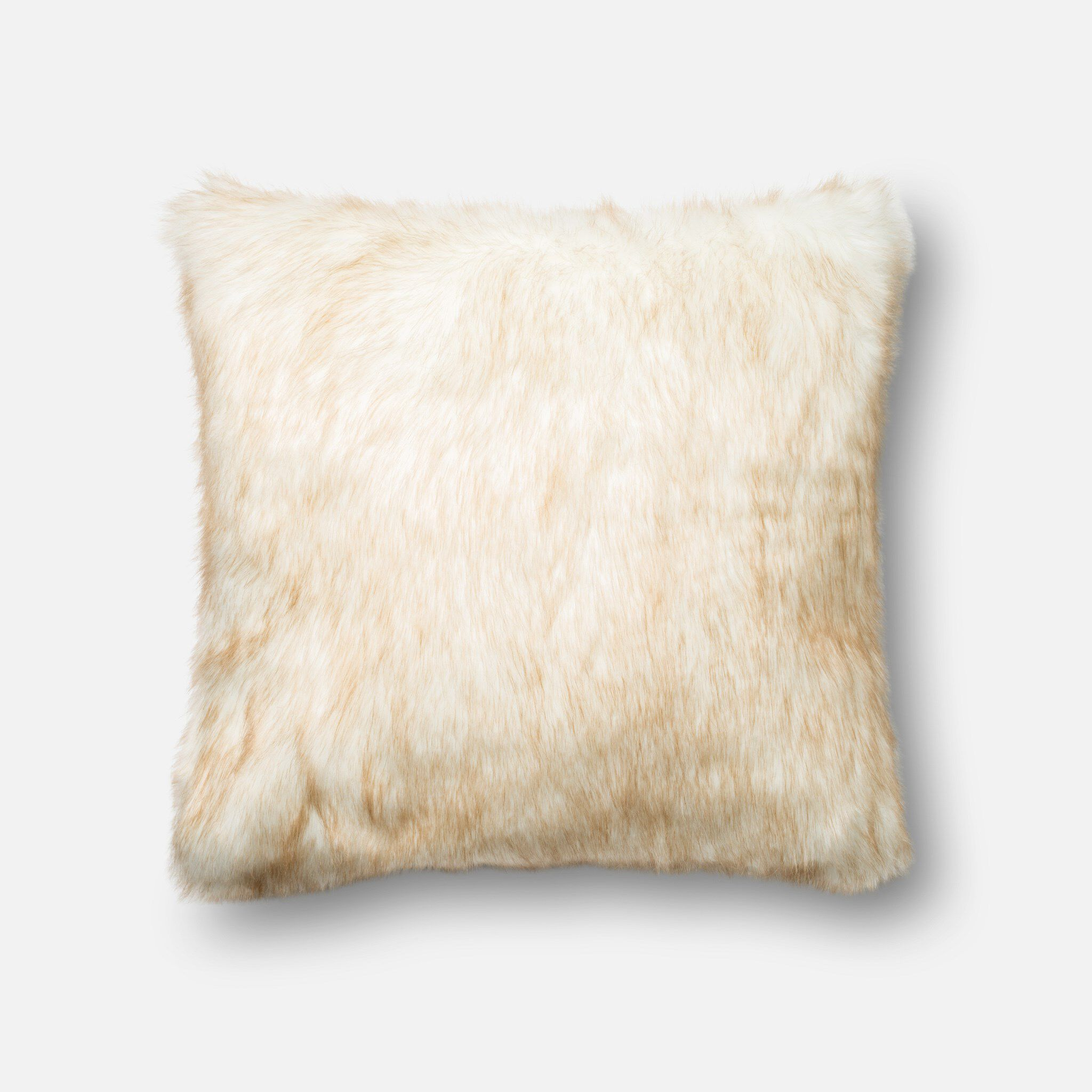 Loloi DSET Silver//Taupe Decorative Accent Pillow 22 x 22 Cover W//Down