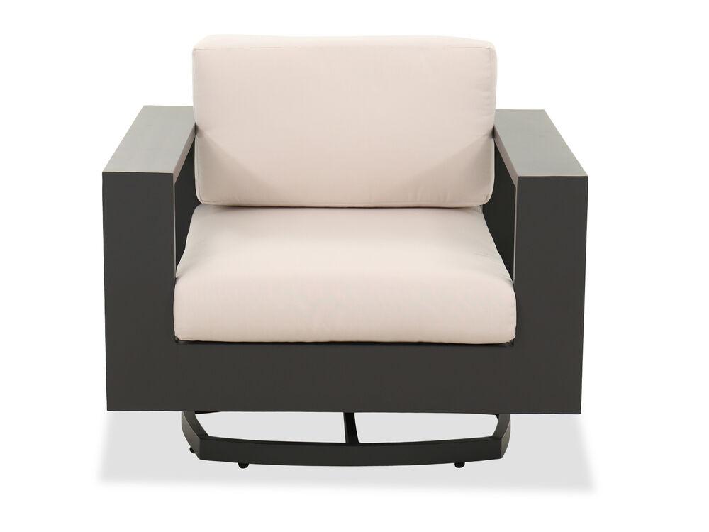Aluminum Patio Swivel Club Chair in Cream