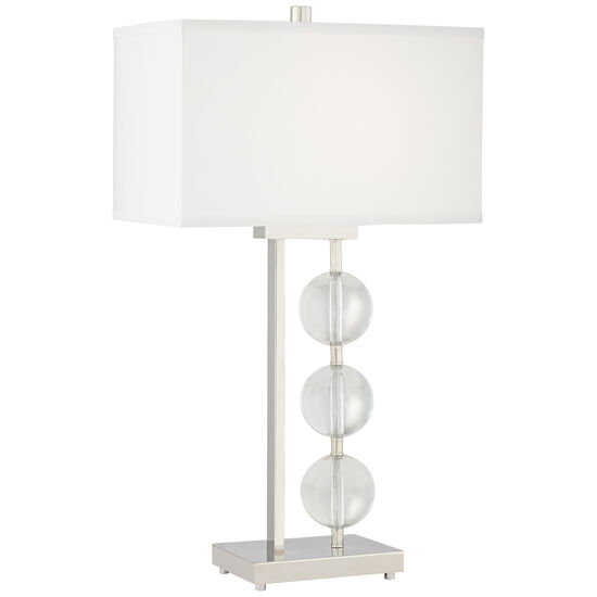 Kathy Ireland Diamonds and More Polished Nickel Table Lamp