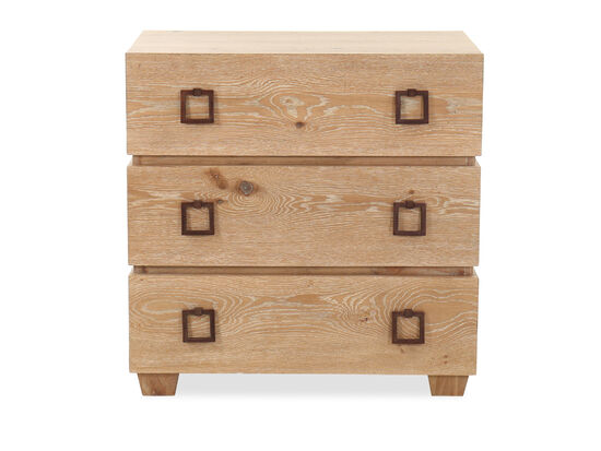 """36"""" Contemporary Three-Drawer Nightstand in Brown"""