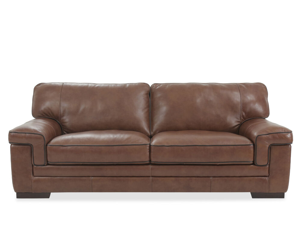 Images Leather 91 Sofa In Chestnut Brown