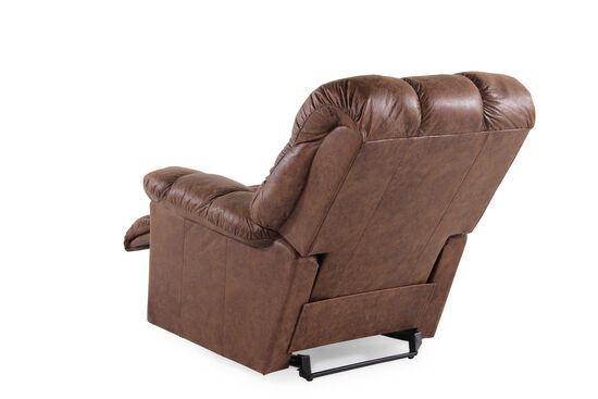 """Contemporary 52"""" Wall Recliner in Chestnut Brown"""