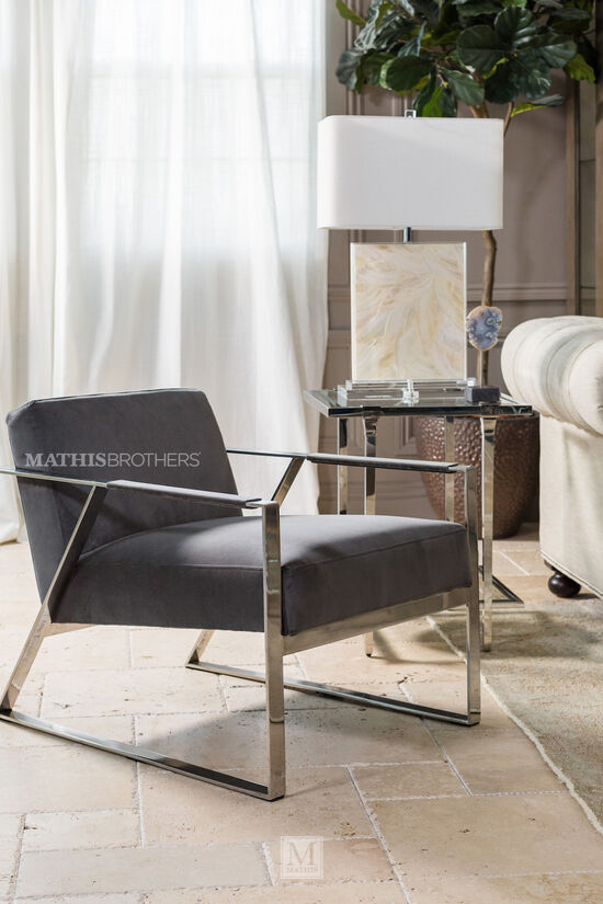 Low-Profile Lounge Chair in Gray