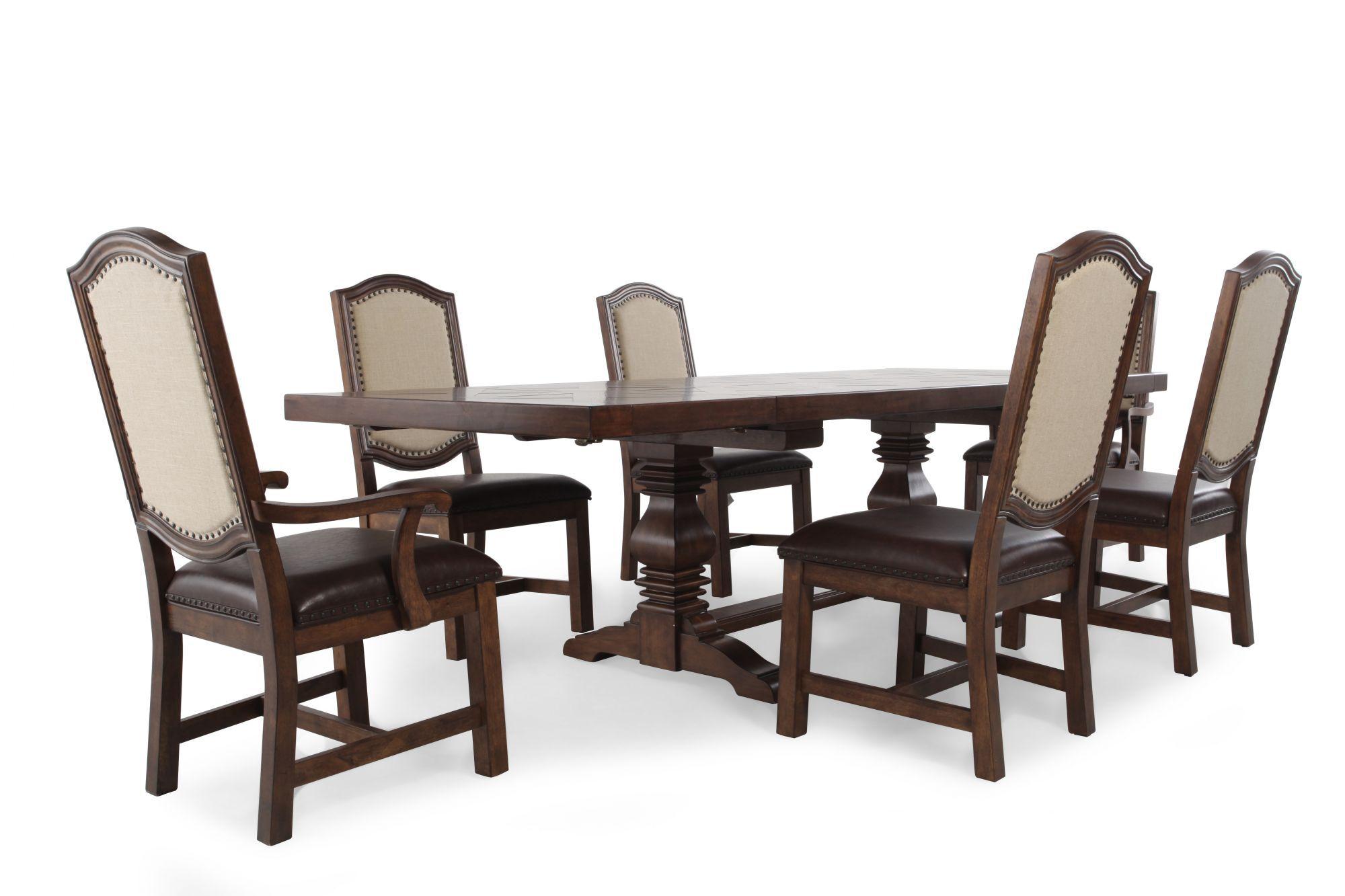 Samuel Lawrence American Attitude Seven Piece Dining Table