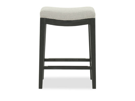 """Nailhead Accented 26"""" Backless Bar Stool in Gray"""