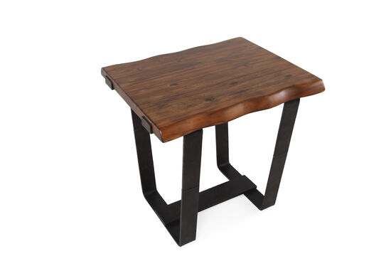 plank top solid wood end table in brown mathis brothers furniture. Black Bedroom Furniture Sets. Home Design Ideas