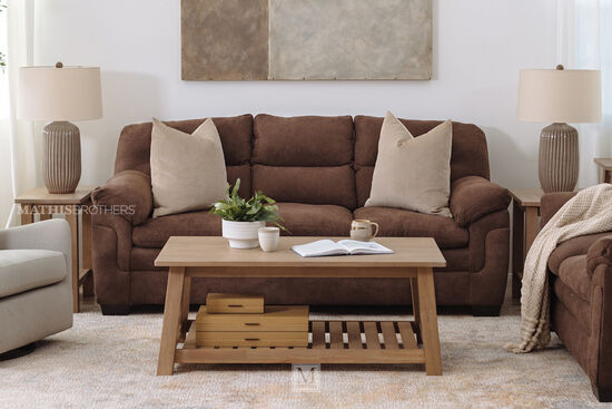 Transitional Sofa Table in Brown
