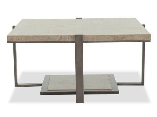 Square Modern Cocktail Table in Gray