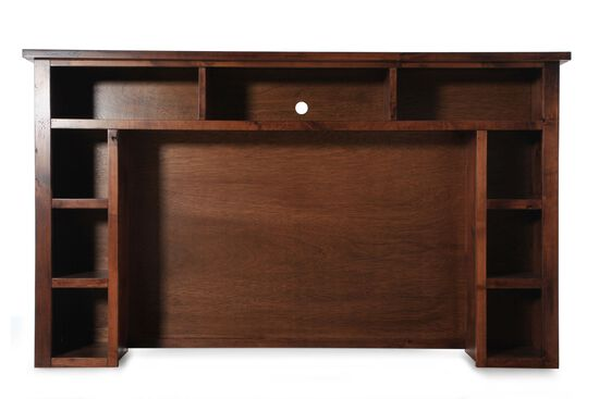 Nine-Open Compartment Casual Entertainment Hutch in Dark Cherry