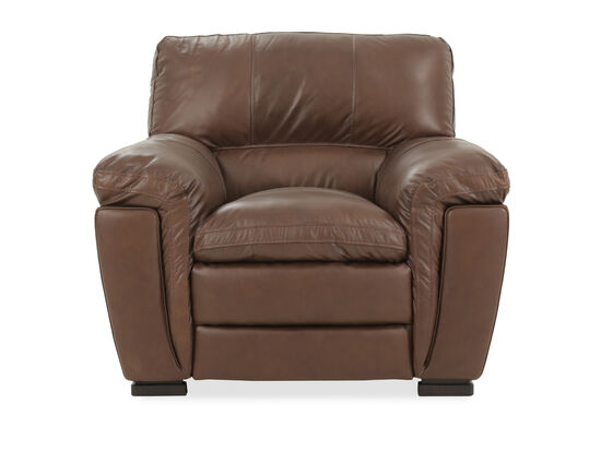 "Casual Leather 44"" Chair in Brown"