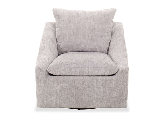 """Transitional 32"""" Swivel Accent Chair in Gray"""