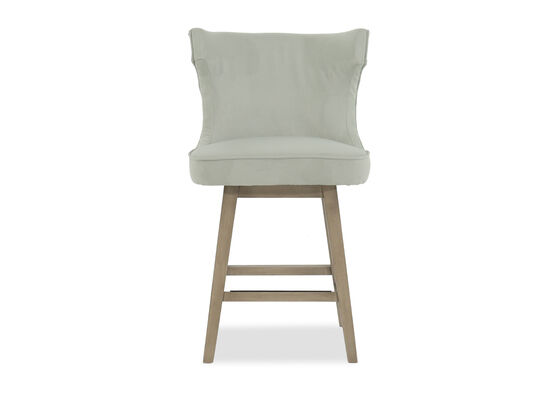 "Microfiber Wingback 39""Nailhead Trimmed Bar Stool in Mint Green"