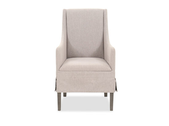 """Traditional 40"""" Host Chair in Dove Gray"""
