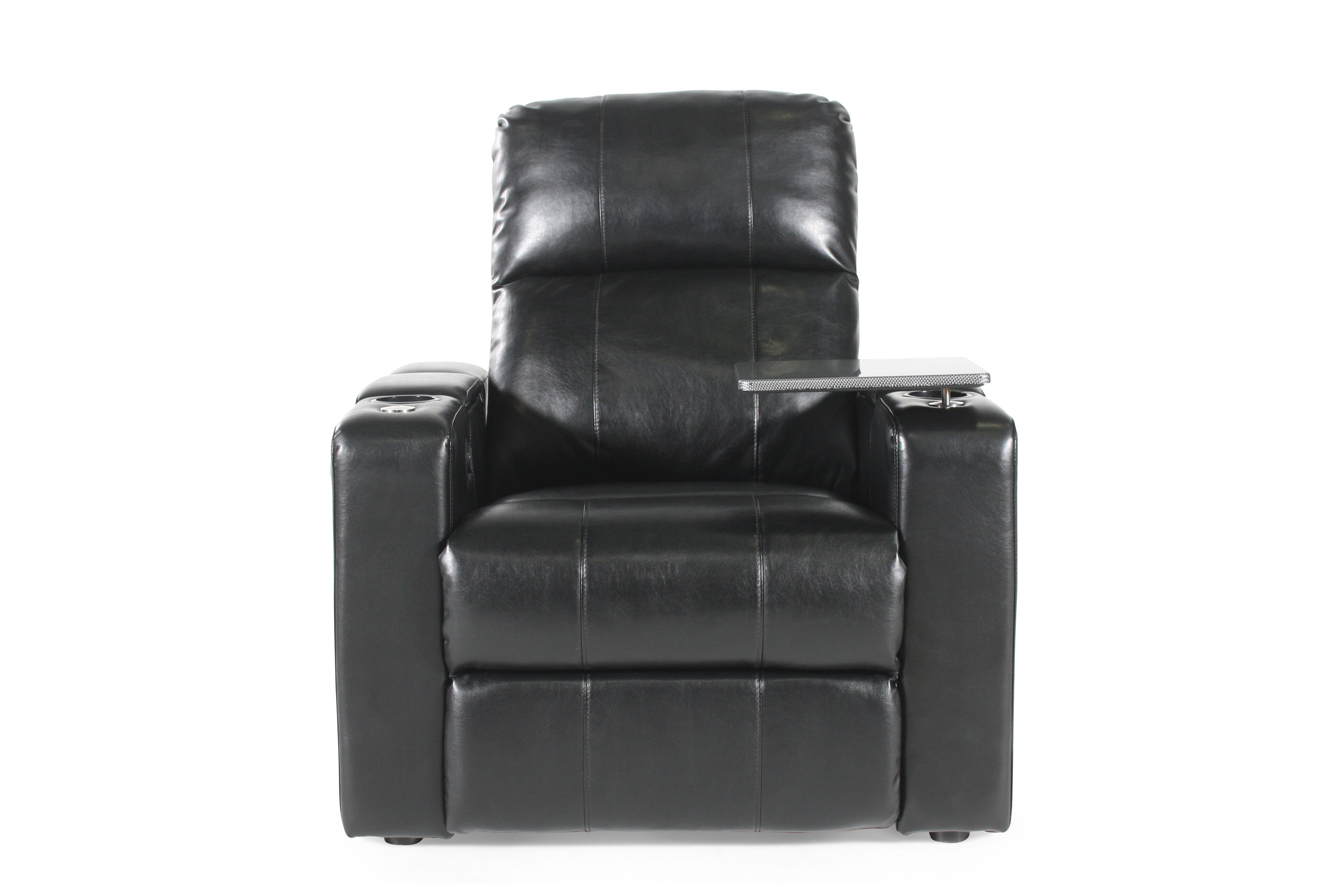 ... Traditional Home Theater Power Recliner In Black ...