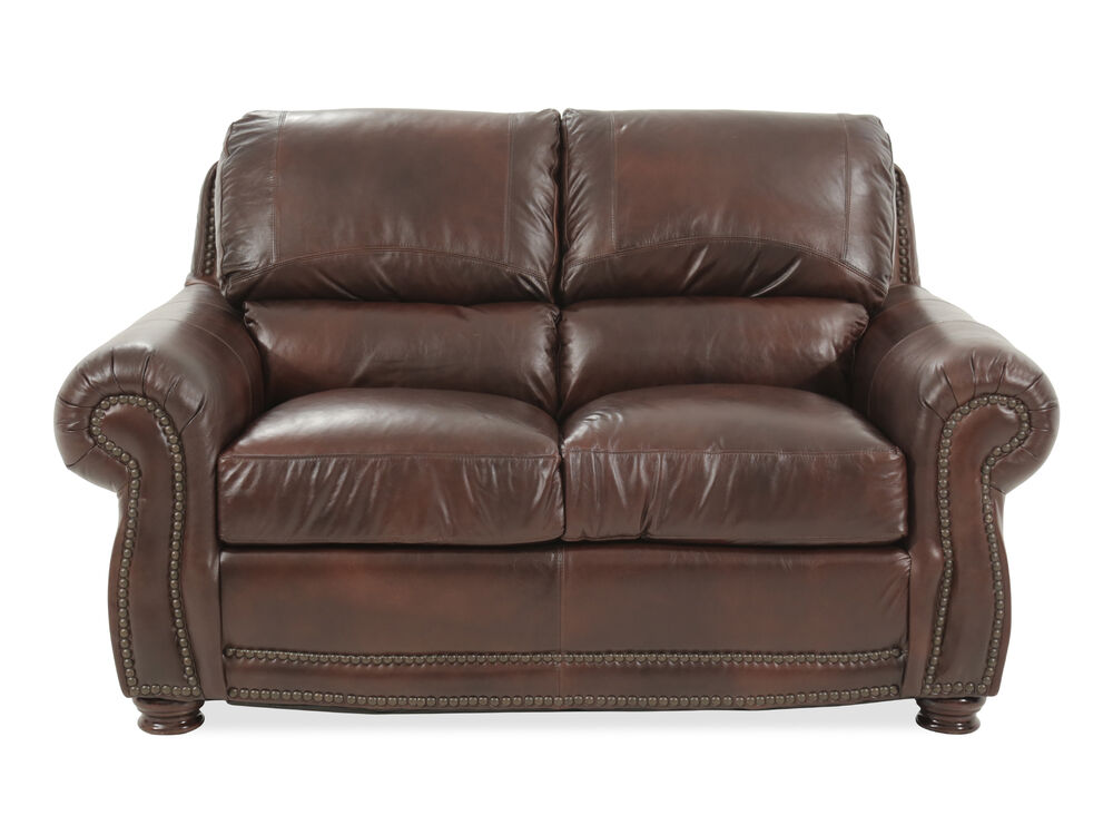 Naihead Trimmed Traditional 63 Quot Loveseat In Brown Mathis