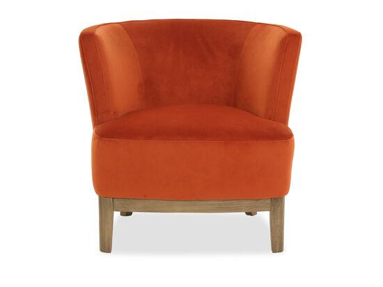 """30"""" Velvet Chair in Orange"""