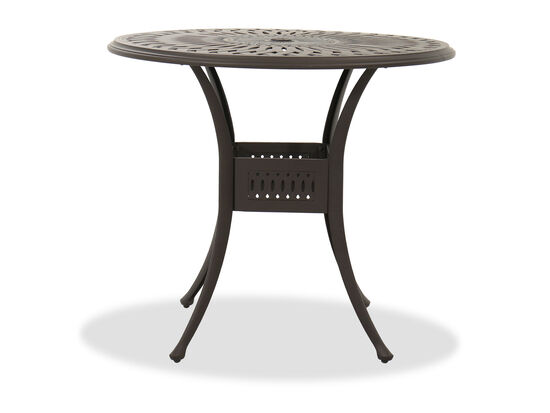 Aluminum Round Counter Table in Brown