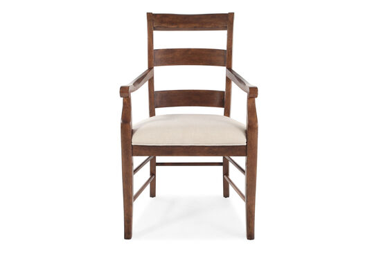 Two-Piece Ladder Back 40'' Arm Chair Set in Brown