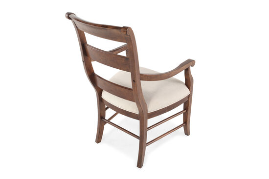 Ladder Back 40'' Arm Chair in Brown