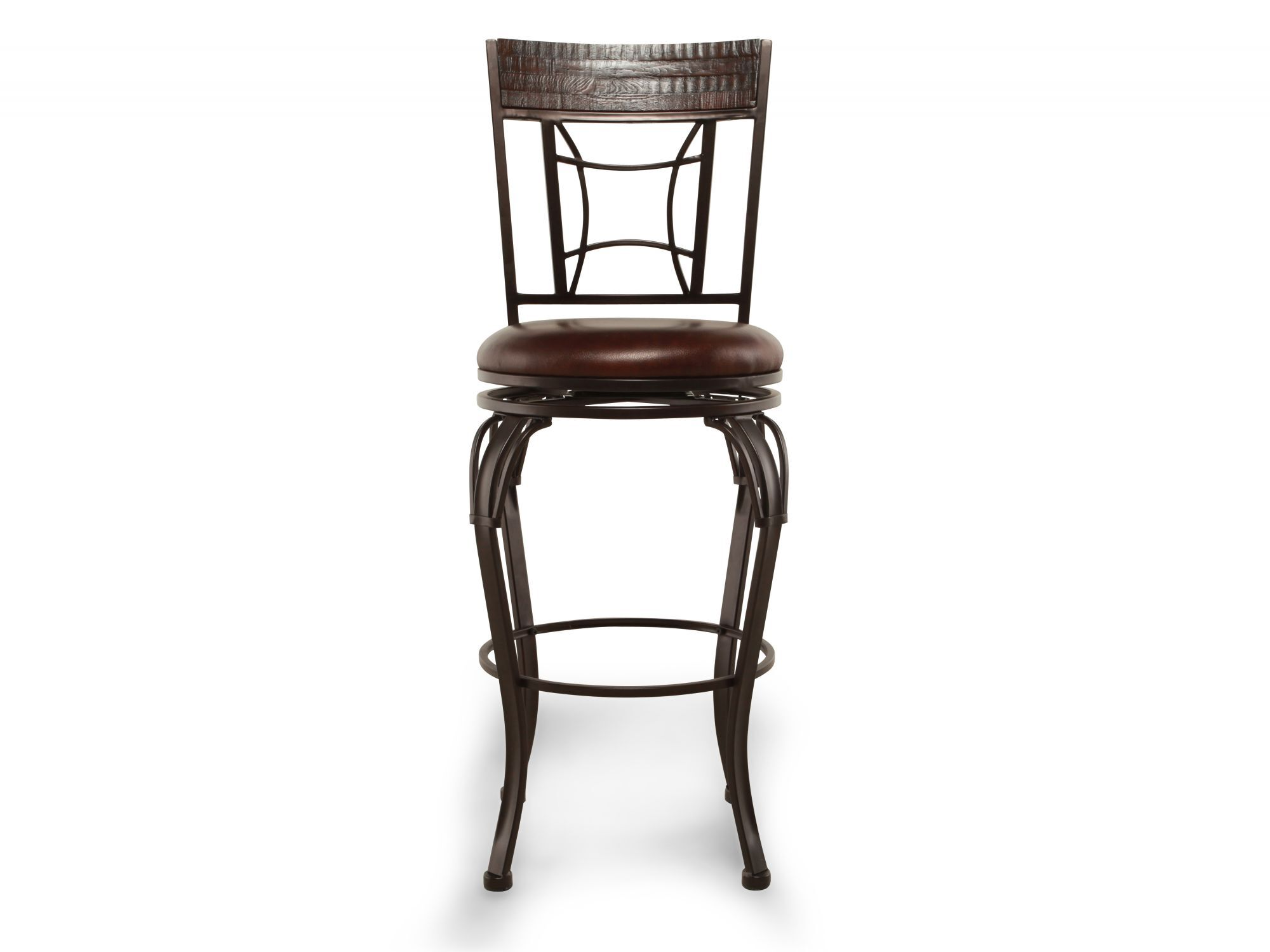 Traditional 46u0026quot; Swivel Bar Stool In Dark Brown