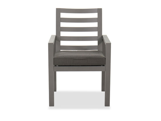 Casual Patio Dining Arm Chair in Gray