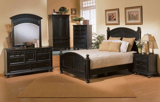 Winners Only Cape Cod Ebony Twin Panel Bed