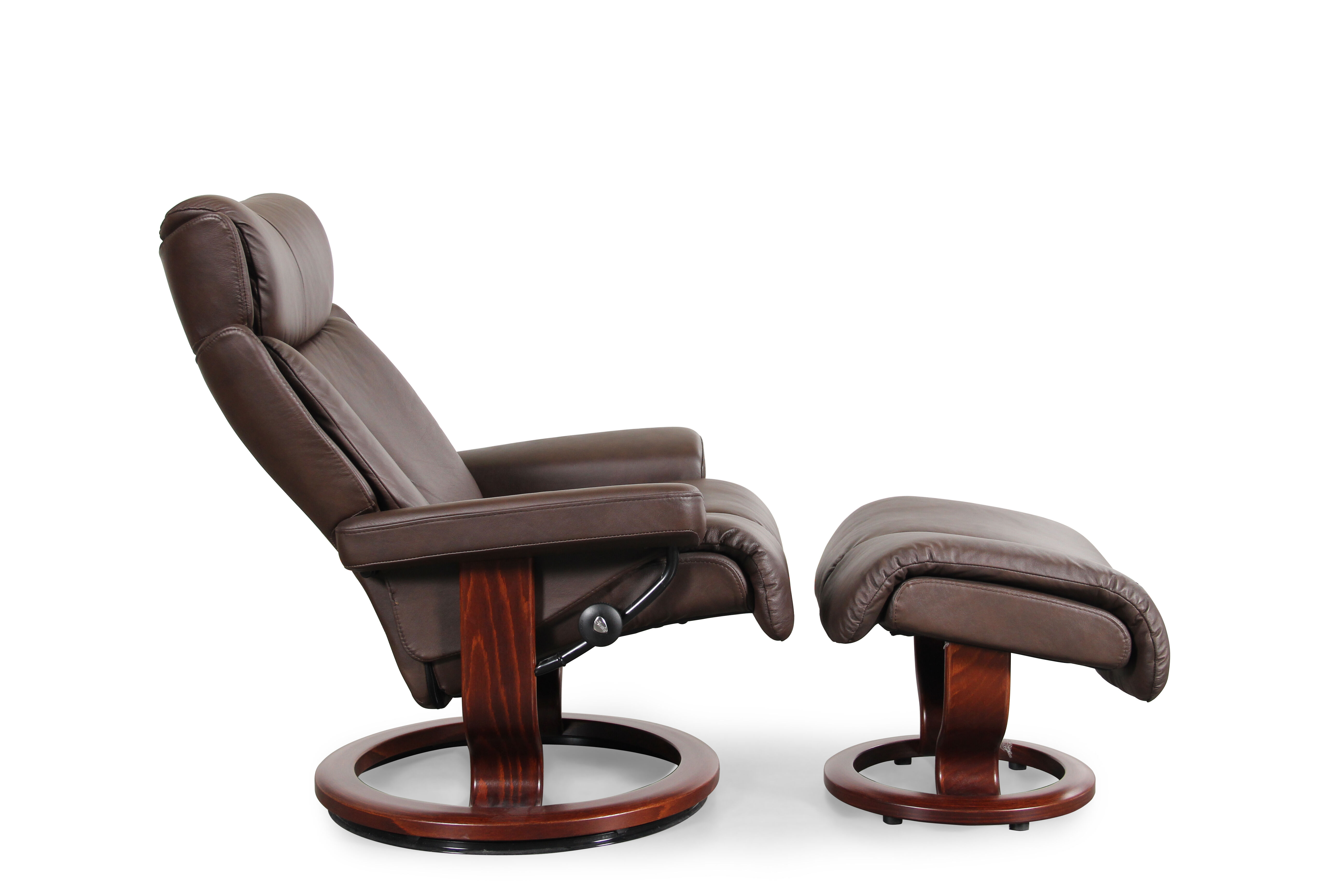 Stressless Magic ...  sc 1 st  Mathis Brothers & Stressless Magic Paloma Medium Chocolate Chair and Ottoman ... islam-shia.org