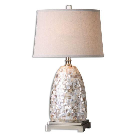 Capiz Shell-Tiled Vase Table Lamp
