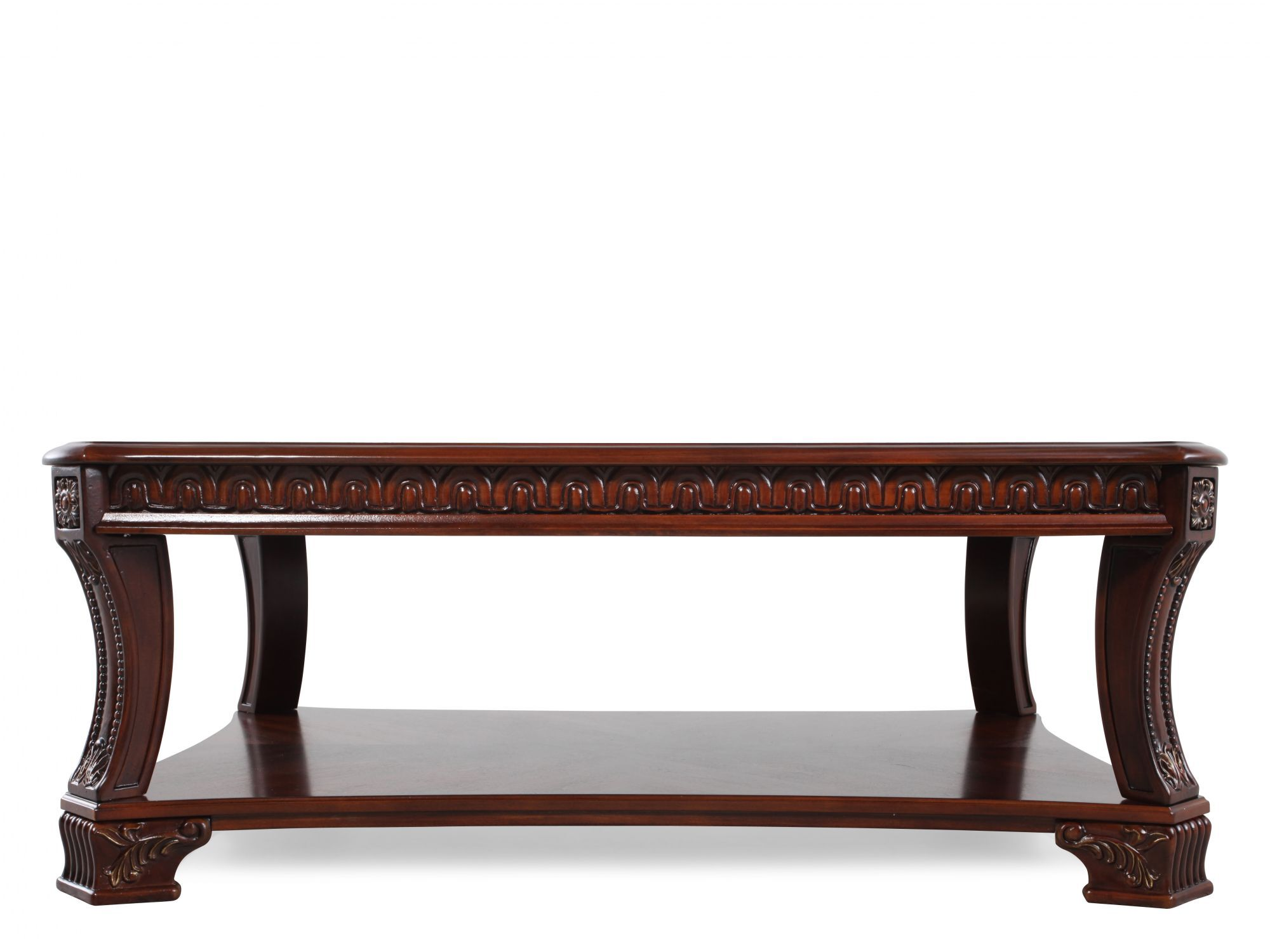 Delicieux Open Shelf Traditional Cocktail Table In Stained Cherry
