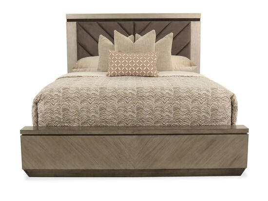 "66"" Casual King Bed in Brown"