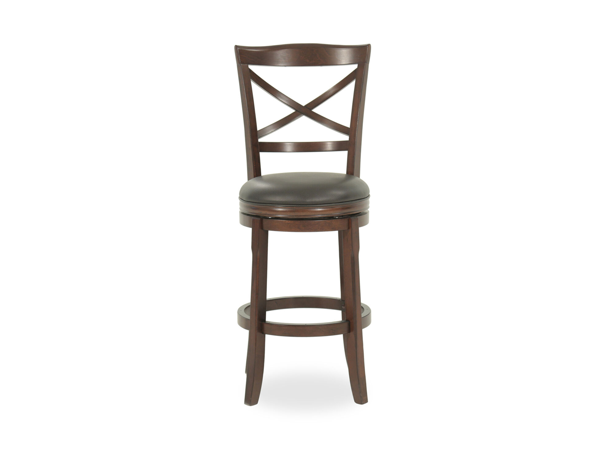 Traditional 45 Quot X Back Swivel Bar Stool In Brown Mathis